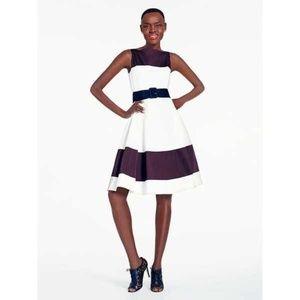 Kate Spade Boatneck Fit & Flare Dress